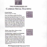 Two Workshops on Catholic Social Teaching