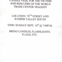 Candle Vigil for the Victims