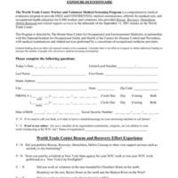 Exposure Questionnaire
