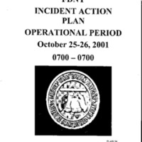 Incident Action Plan: 10/25/01 - 10/26/01