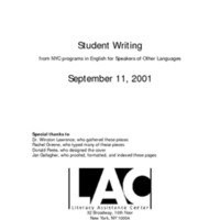 Student Writing: September 11, 2001: Index