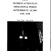 Incident Action Plan: 9/25/01 - 9/26/01
